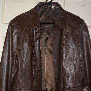 Preston & York Genuine Brown Leather Jacket (L)
